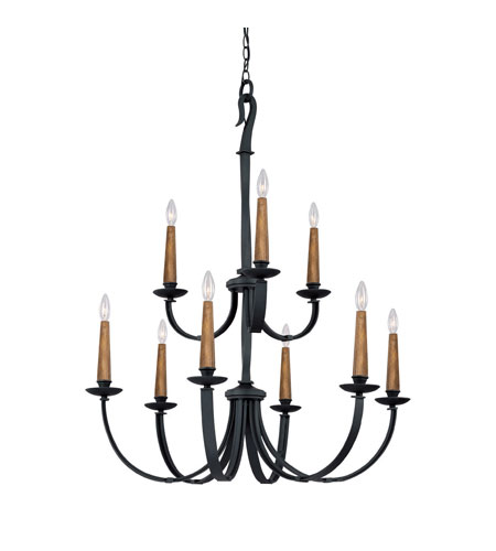 Capital Lighting 3999BI Heritage 9 Light 36 inch Black Iron Chandelier Ceiling Light photo