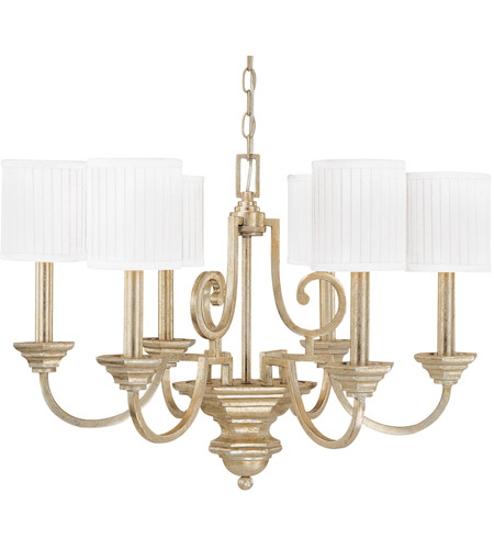 Capital Lighting 4006wg 484 Fifth Avenue 6 Light 28 Inch Winter Gold Chandelier Ceiling