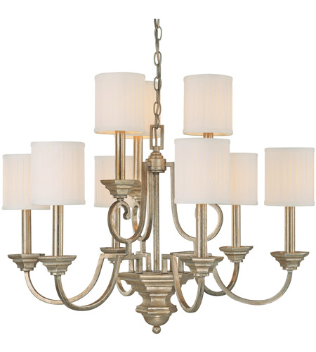 Capital Lighting 4009WG-484 Fifth Avenue 9 Light 32 inch Winter Gold Chandelier Ceiling Light photo