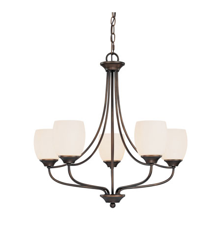 Capital Lighting Marlow 5 Light Chandelier in Burnished Bronze with Soft White Glass 4015BB-111 photo