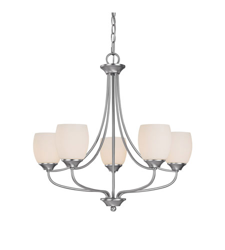 Capital Lighting Marlow 5 Light Chandelier in Matte Nickel with Soft White Glass 4015MN-111 photo
