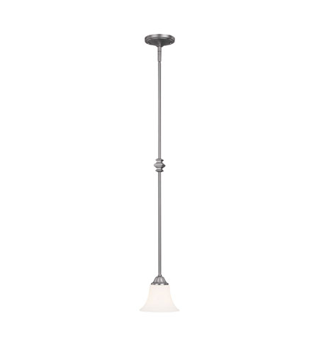 Capital Lighting Towne & Country 1 Light Pendant in Matte Nickel with Soft White Glass 4020MN-114 photo