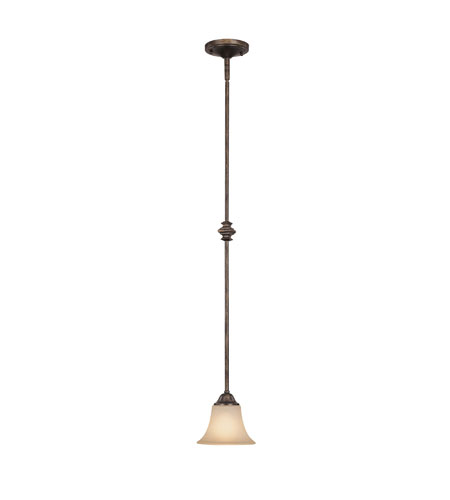 Capital Lighting Towne & Country 1 Light Pendant in Rustic with Mist Scavo Glass 4020RT-107 photo
