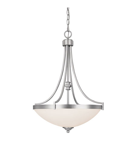 Capital Lighting Towne & Country 3 Light Pendant in Matte Nickel with Soft White Glass 4027MN photo