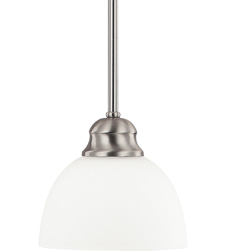 Capital Lighting Stanton 1 Light Mini Pendant in Brushed Nickel with Soft White Glass 4031BN-212 photo