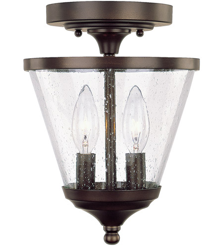 Capital Lighting Stanton 2 Light Foyer in Burnished Bronze with Soft White Glass 4032BB-236 photo
