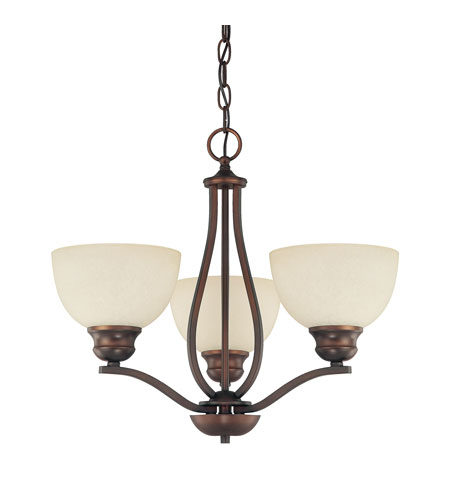 Capital Lighting Stanton 3 Light Chandelier in Burnished Bronze with Mist Scavo Glass 4033BB-207 photo