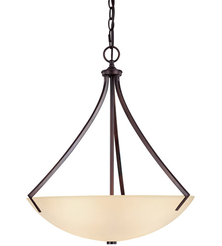 Capital Lighting Stanton 3 Light Pendant in Burnished Bronze with Mist Scavo Glass 4038BB photo