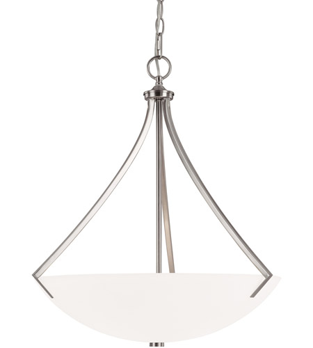 Capital Lighting Stanton 3 Light Pendant in Brushed Nickel with Soft White Glass 4038BN photo