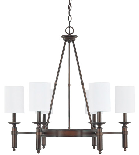 Capital Lighting 4046BB-489 Covington 6 Light 29 inch Burnished Bronze Chandelier Ceiling Light photo