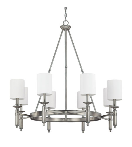 Capital Lighting Covington 8 Light Chandelier in Antique Nickel 4048AN-489 photo