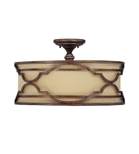 Capital Lighting Luciana 4 Light Semi-Flush Mount in Bronze with Gold Dust 4053BD-532 photo