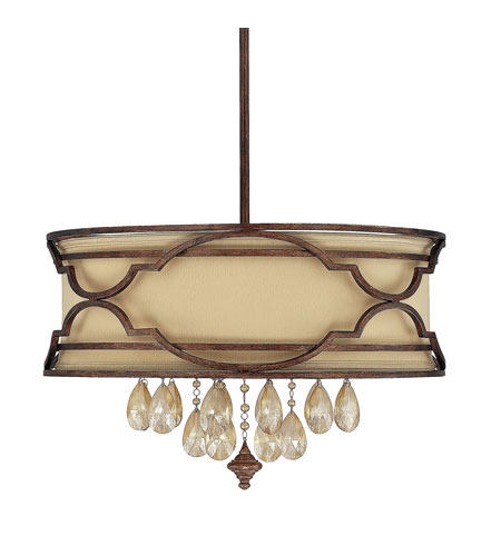 Capital Lighting Luciana 6 Light Pendant in Bronze with Gold Dust with Crystals 4056BD-529-CR photo