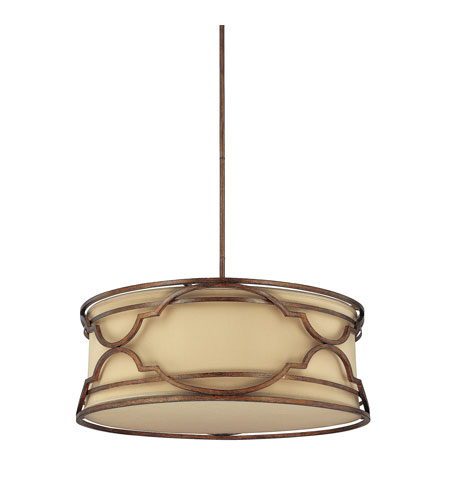 Capital Lighting Luciana 6 Light Pendant in Bronze with Gold Dust 4058BD-540 photo