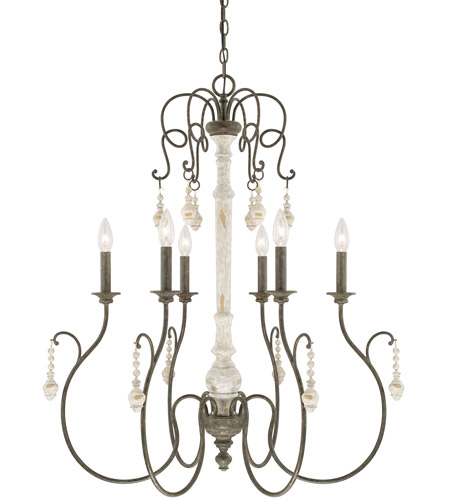 Capital Lighting 410362fc Vineyard 6 Light 30 Inch French Country Chandelier Ceiling Light