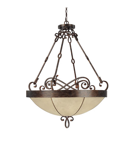 Capital Lighting Reserve 6 Light Pendant in Rustic 4165RT photo