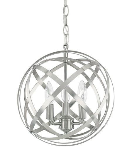 capital lighting 4233bn axis 3 light 13 inch brushed nickel pendant