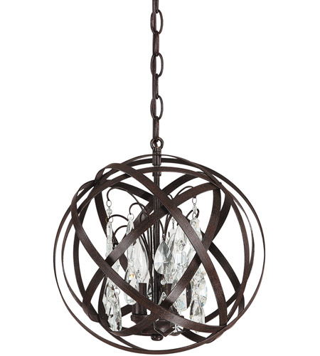 Capital Lighting 4233RS-CR Axis 3 Light 13 inch Russet Pendant Ceiling Light in Included photo