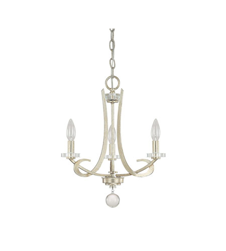 capital lighting hutton 3 light chandelier in winter gold 4263wg 000