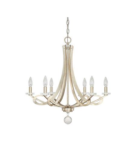Capital Lighting Hutton 6 Light Chandelier In Winter Gold 4266wg 000