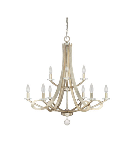 capital lighting hutton 9 light chandelier in winter gold 4269wg 000