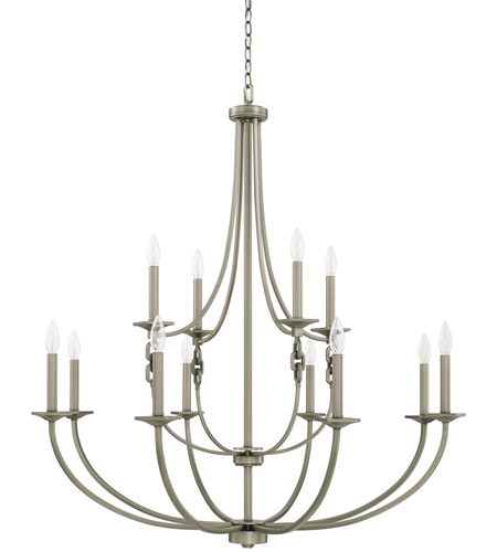 Capital Lighting 427901AN Wallace 12 Light 41 inch Antique Nickel Chandelier  Ceiling Light photo - Capital Lighting 427901AN Wallace 12 Light 41 Inch Antique Nickel