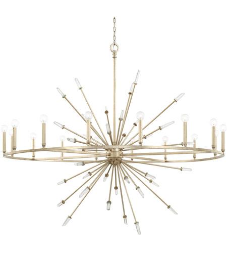 Capital Lighting 428203wg Adira 16 Light 59 Inch Winter Gold Chandelier Ceiling