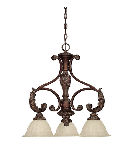 Capital Lighting Monarch 3 Light Chandelier in Gilded Bronze with Rust Scavo Glass 4303GB-260 photo