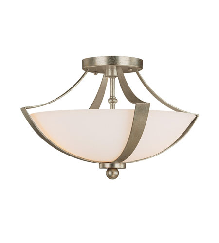 Capital Lighting 4334WG Soho 2 Light 16 inch Winter Gold Semi-Flush Mount Ceiling Light in Soft White photo