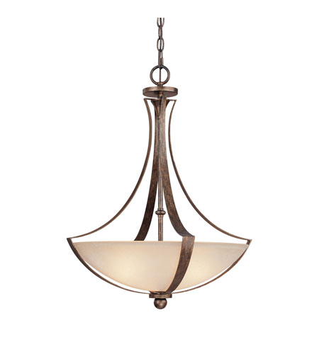 Capital Lighting Soho 3 Light Pendant in Rustic with Mist Scavo Glass 4337RT-MS photo