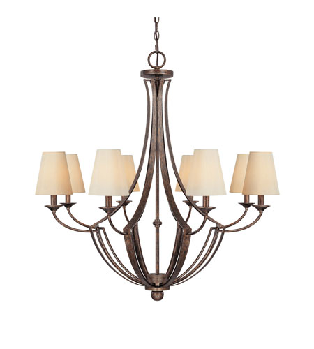 Capital Lighting Soho 8 Light Chandelier in Rustic 4338RT-524 photo