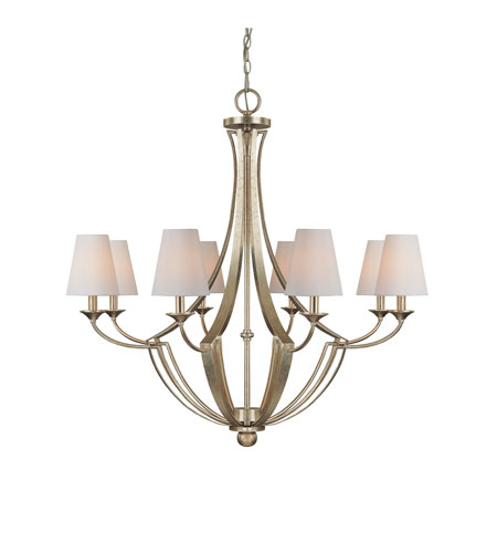 Capital Lighting Soho 8 Light Chandelier in Winter Gold 4338WG-512 photo