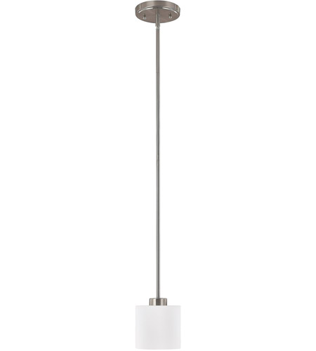 Capital Lighting Steele 1 Light Mini-Pendant in Brushed Nickel with Soft White Glass 4340BN-103 photo