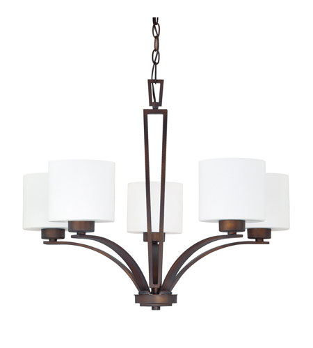 Capital Lighting 4345BB-103 Steele 5 Light 27 inch Burnished Bronze Chandelier Ceiling Light photo