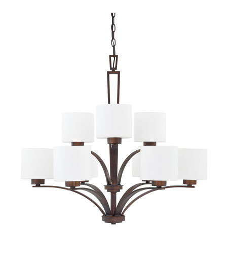 Capital Lighting Steele 9 Light Chandelier in Burnished Bronze with Soft White Glass 4349BB-103 photo