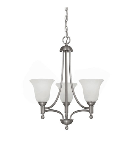 Capital Lighting 4353MN-298-GU Metropolitan 3 Light 16 inch Matte Nickel Chandelier Ceiling Light photo
