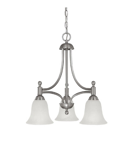 Capital Lighting Metropolitan 3 Light Fluorescent Chandelier in Matte Nickel with White Alabaster Glass 4354MN-298-GU photo