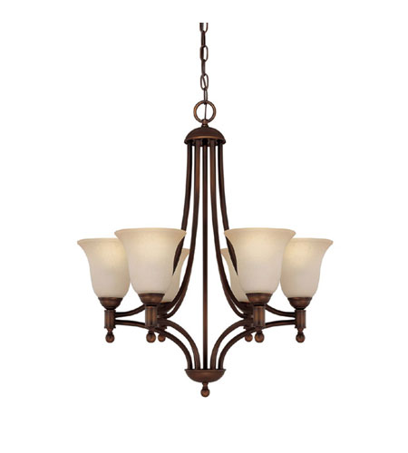 Capital Lighting Metropolitan 6 Light Fluorescent Chandelier in Burnished Bronze with Mist Scavo Glass 4356BB-252-GU photo