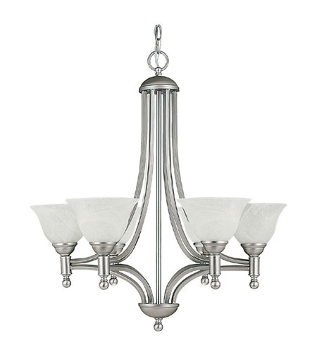 Capital Lighting Metropolitan 6 Light Chandelier in Matte Nickel with Faux White Alabaster Glass 4356MN-220 photo