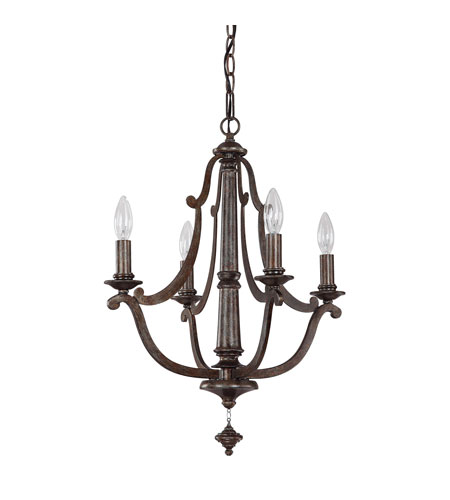 Capital Lighting 4364RT Corday 4 Light 18 inch Rustic Chandelier Ceiling Light photo