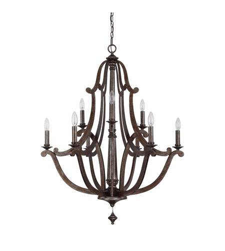 Capital Lighting 4369RT Corday 9 Light 33 inch Rustic Chandelier Ceiling Light photo