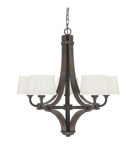 Capital Lighting Mason 5 Light Chandelier in Stained Wood 4385SW-527 photo
