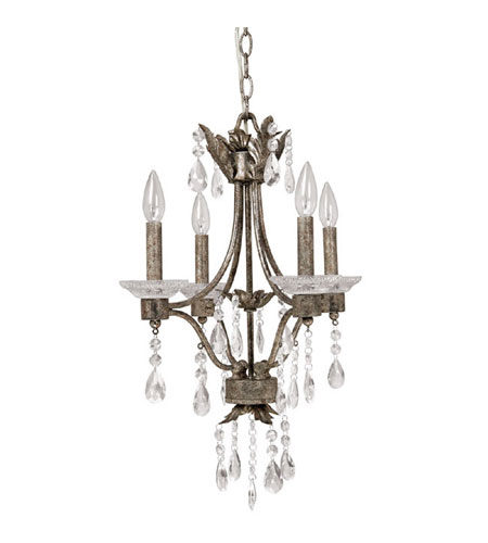 Capital Lighting Signature 4 Light Chandelier in Antiqued Silver 4600AS photo