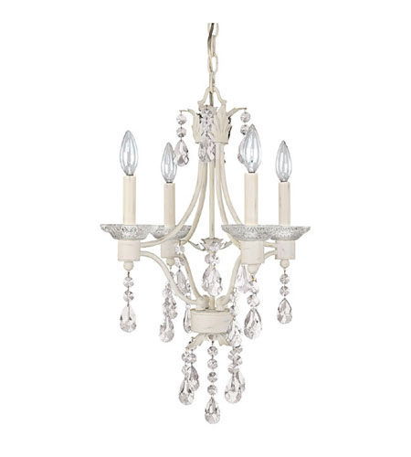 Capital Lighting Signature 4 Light Chandelier in Shabb Chic 4600SC photo