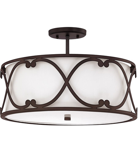 Capital Lighting 4743BB-610 Alexander 3 Light 18 inch Burnished Bronze Semi-Flush Ceiling Light  sc 1 st  Capital Lighting Fixtures - Lighting New York & Capital Lighting 4743BB-610 Alexander 3 Light 18 inch Burnished ...