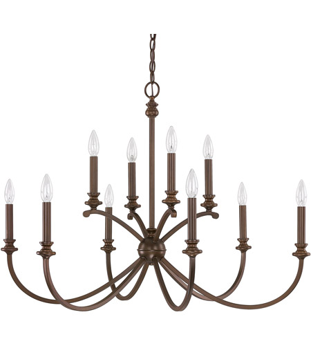 Capital Lighting 4747BB-000 Alexander 10 Light 36 inch Burnished Bronze Chandelier Ceiling Light photo thumbnail