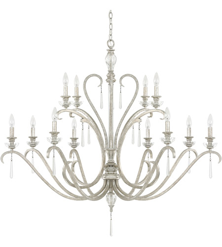 Capital Lighting 4782AS-000 Celine 12 Light 49 inch Antique Silver Chandelier Ceiling Light photo thumbnail