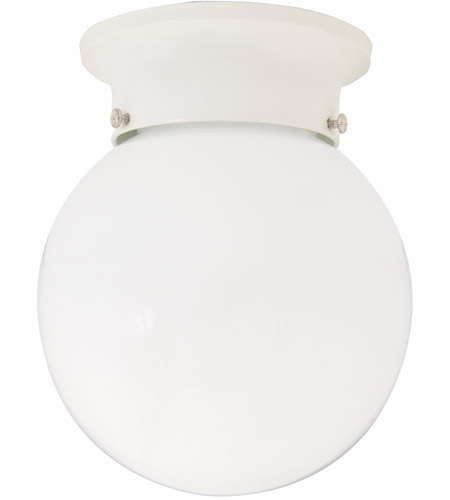 Capital Lighting 5569WH Signature 1 Light 6 inch White Flush Mount Ceiling Light photo