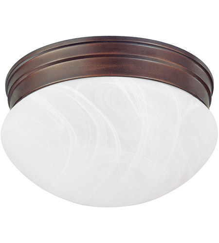 Capital Lighting Signature 2 Light Flush Mount in Burnished Bronze with White Faux Alabaster Glass 5678BB photo