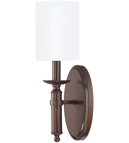 Capital Lighting 6301BB-489 Covington 1 Light 5 inch Burnished Bronze Sconce Wall Light photo